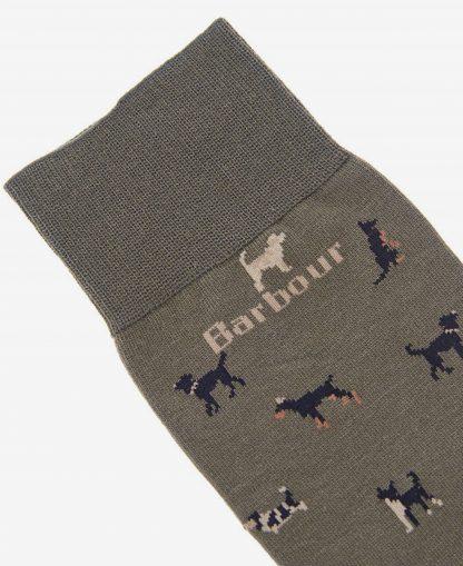 MSO0068OL54 Barbour Mavin Dog Sock Olive