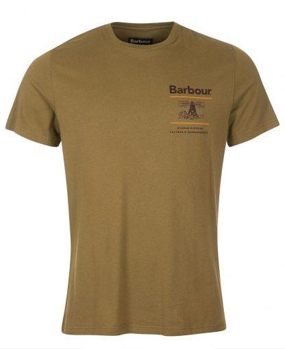 MTS0446OL54 Barbour Reed Tee Mid Olive