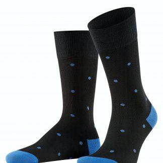 13269/3010 Falke Dot Socks Black