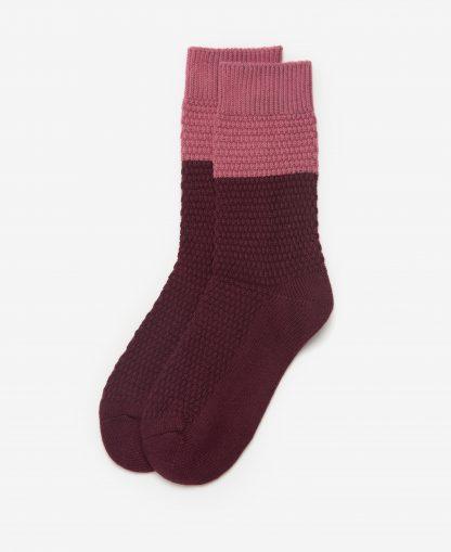 LSO0114BU19 Barbour Colour Block Socks