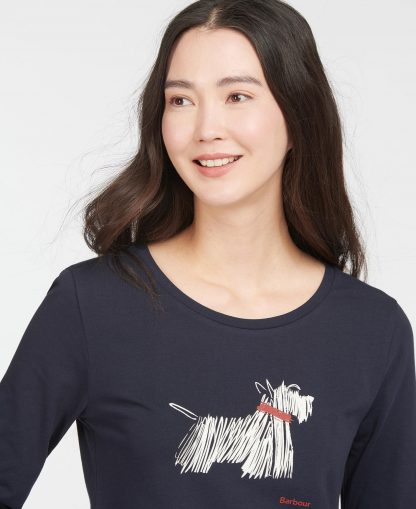 LTS0508NY73 Barbour Lossie Long Sleeve T-Shirt