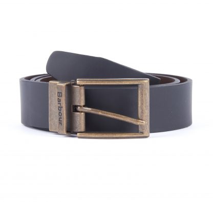 MGS0026BK11 Barbour Reversible Leather Belt Black/Brown
