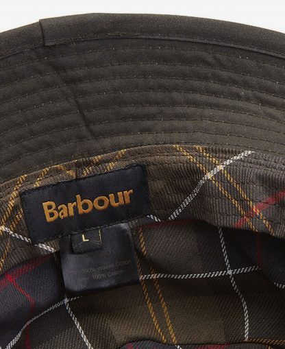 MHA0001OL71 Barbour Wax Sports Hat Olive