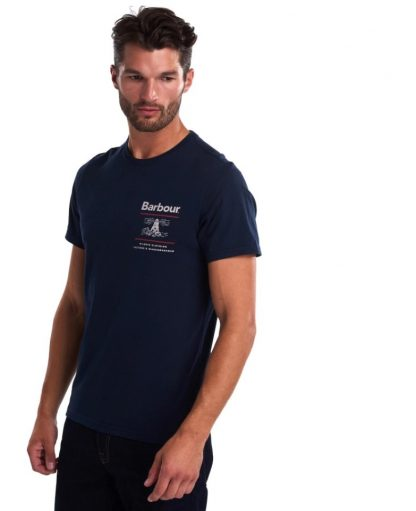 MTS0446NY91 Barbour Reed Graphic Tee Navy