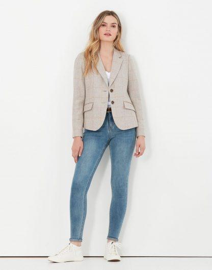214220 Joules Enid Short Tweed Blazer