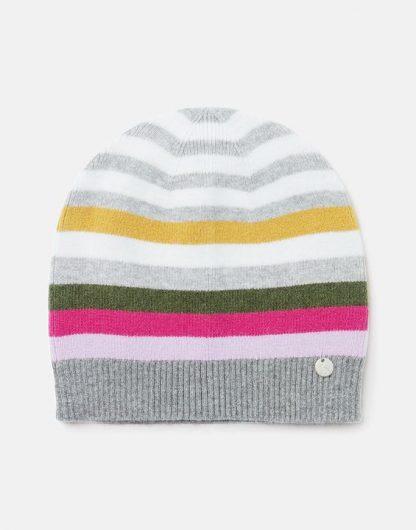 215415_GREYSTP Joules Zelda Stripe Hat Grey