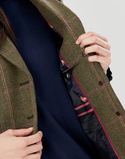 214096_GRNTWEED Joules Gillingham Hacking Jacket Green Tweed