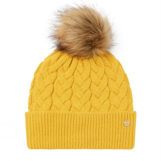 215450_ANTGOLD Joules Elena Cable Hat Gold