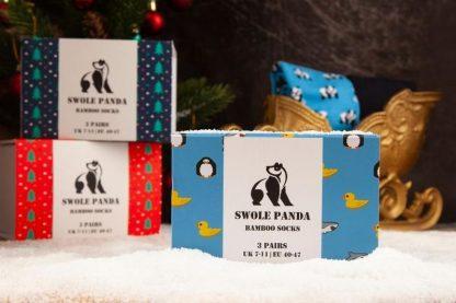 Swole Panda Animal Bamboo Socks Gift Box