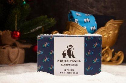 Swole Panda Bicycle Bamboo Socks Gift Box