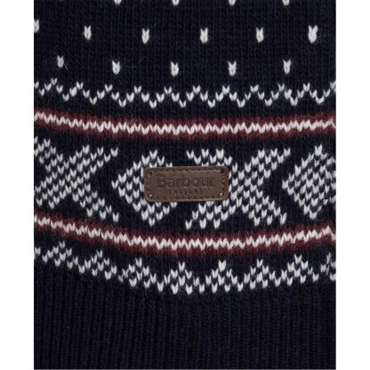 MKN1342NY91 Barbour Essential Fair Isle Crew Jumper Navy