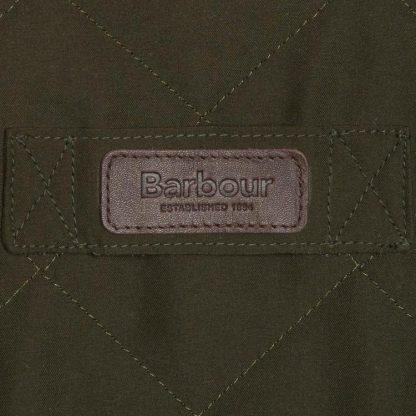 Barbour Burton Quilted Jacket Dark Olive