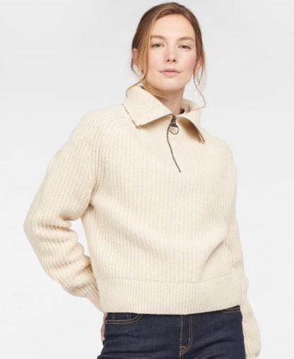 LKN1157ST51 Barbour Stanton Knit Oatmeal