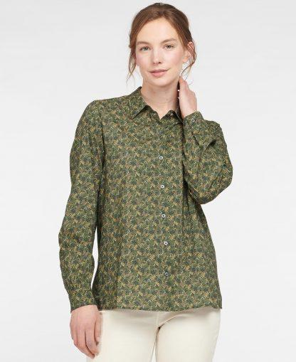 LSH1424SG51 Barbour Hindscarth Shirt Sage Print