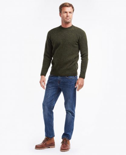 MKN1138GN91 Barbour Netherton Crew Forest
