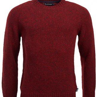 MKN1138RE94 Barbour Netherton Crew Neck Sweater Merlot