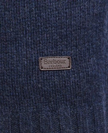 MKN1262NY38 Barbour Duffle Cable Sweater Dark Denim