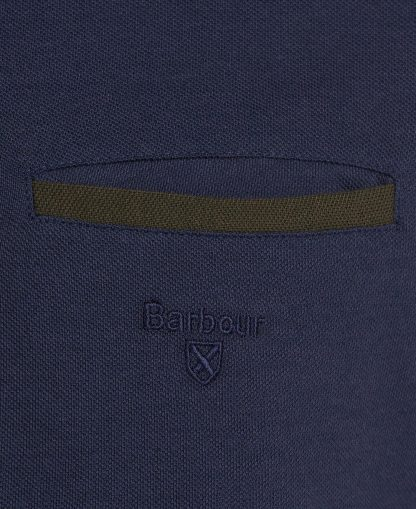 MML1134NY91 Barbour Essential L/S Pocket Polo Navy