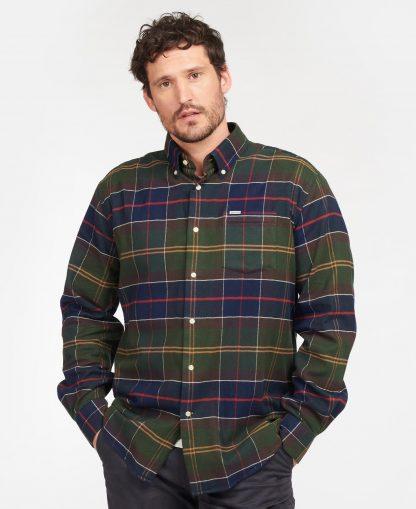 MSH5048TN11 Barbour Hogside Tartan Regular Fit Shirt Classic Tartan