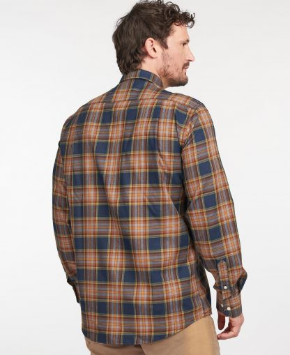 MSH5058NY91 Barbour Singsby Thermo Weave Shirt Navy