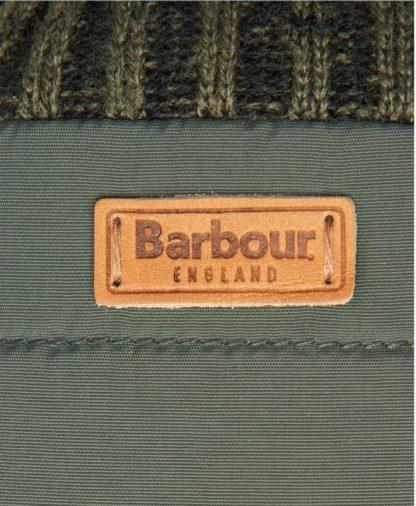 MGL0110OL11 Barbour Banff Quilted Gloves Olive