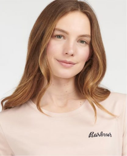 LNW0004PI11 Barbour Edie Tee Light Pink