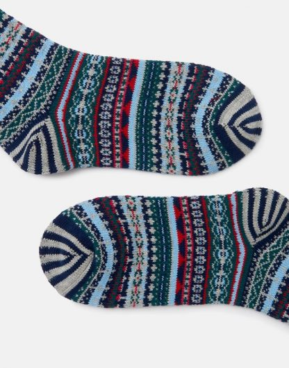Joules Lucille Fairisle Socks Navy