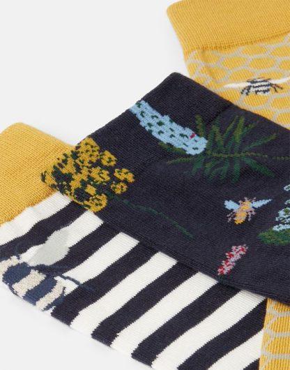 Joules 3pk Bamboo Bee Socks