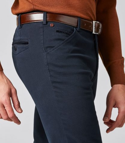 Meyer Chicago-2-5580_19 Canvas-Look Chino Navy