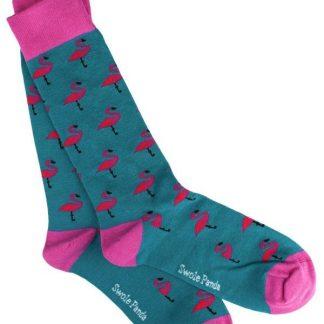 Swole Panda Bamboo Socks Flamingo