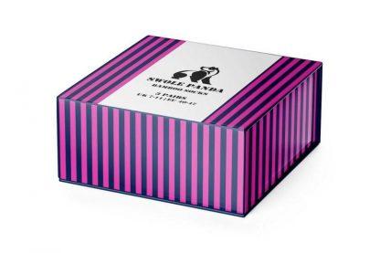 Swole Panda Stripe Bamboo Socks Gift Box