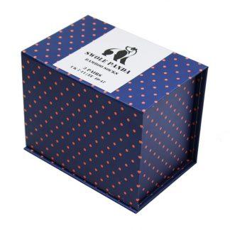 Swole Panda Orange/Blue Bamboo Socks Gift Box