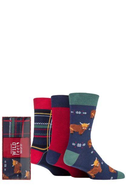 Wild Feet Highland Cow Socks Gift Set