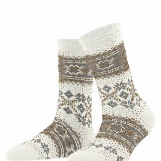 46442-2040 Falke Cashmere Mix Socks Off White