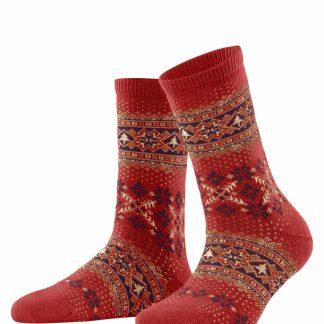 46442-8784 Falke Cashmere Blend Socks Red