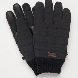 MGL0110BK31 Barbour Banff Quilted Gloves Black